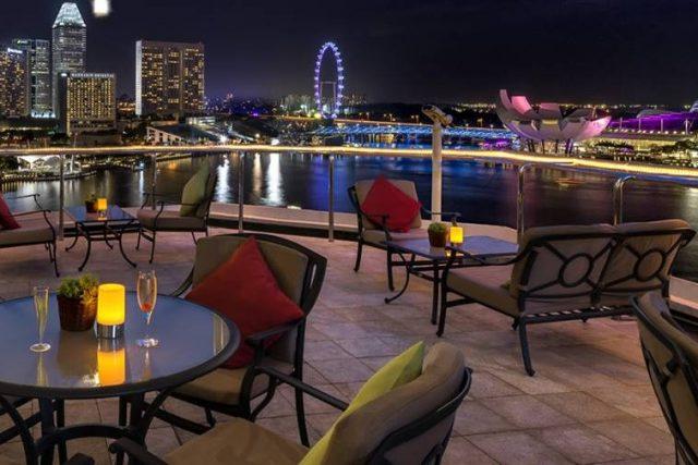 best rooftop restaurants Singapore The Lighthouse Fullerton Hotel