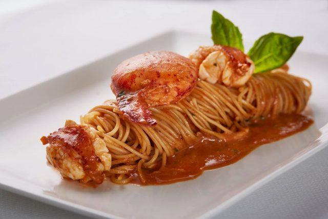 best rooftop restaurants Singapore The Lighthouse lobster pasta Fullerton Hotel fine dining