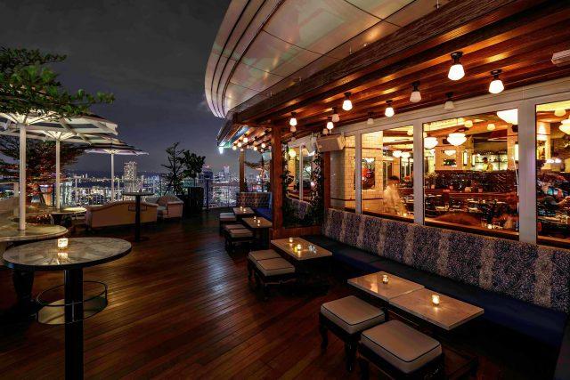 best rooftop restaurants singapore lavo patio night evening sky