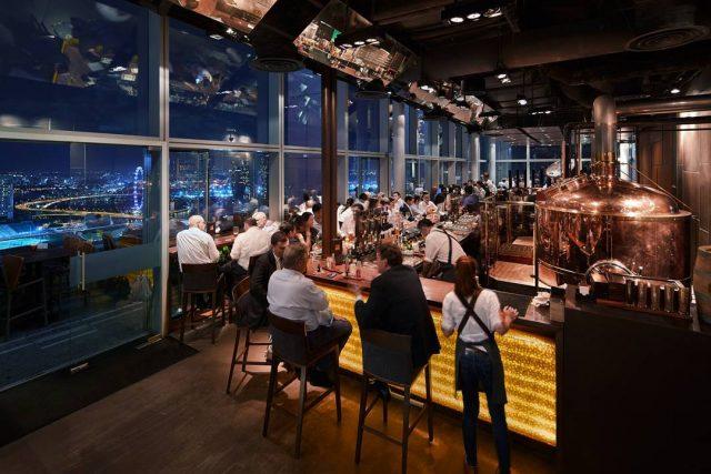 best rooftop restaurants singapore level 33 microbrewery craft brew