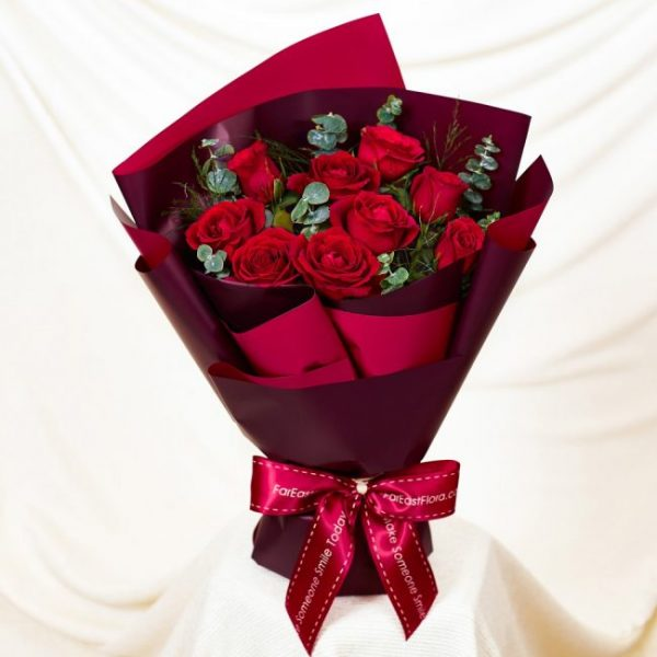 red roses bouquet valentines day flowers singapore