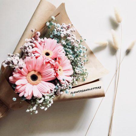 pink gerbera daisies bouquet valentines day flower singapore