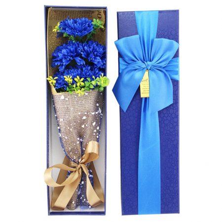 blue carnation bouquet valentines day flowers singapore