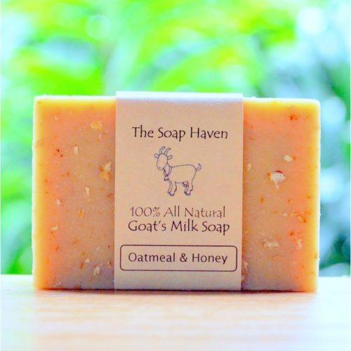 the soap haven oatmeal and honey goats milk soap bar handmade singapore