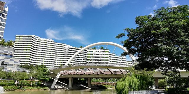 cycling singapore punggol waterway park bridge