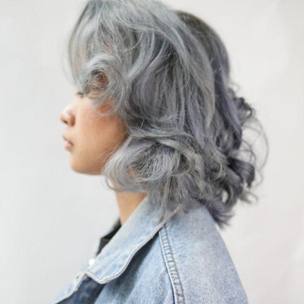 walking on sunshine korean hair salon singapore silver grey perm