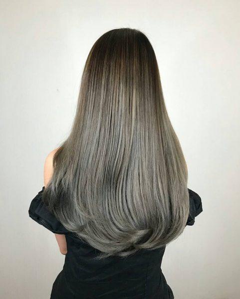 zinc korean hair salon singapore female grey silver dye