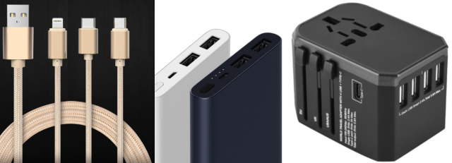 charging cords xiaomi portable powerbank travel adapter travel essential carry-on luggage