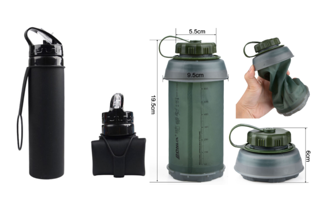 collapsible travel water bottles travel essential carry-on luggage