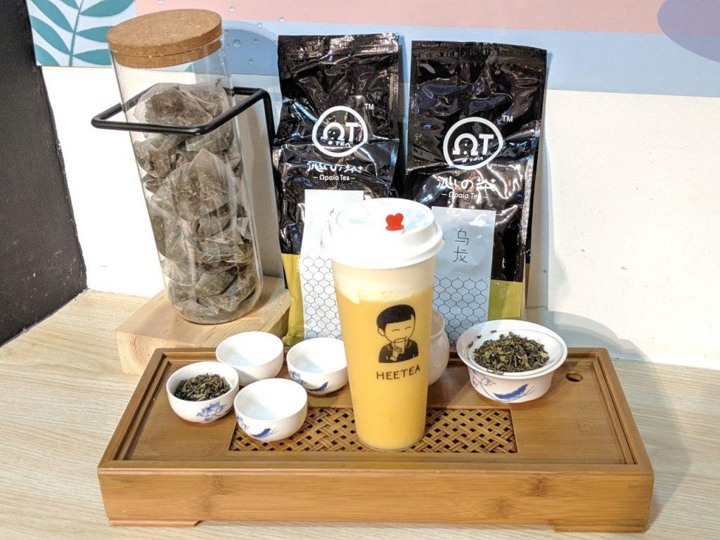 heetea mango cheese tea in Singapore