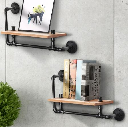 pipe wall shelves vintage furniture in Singapore