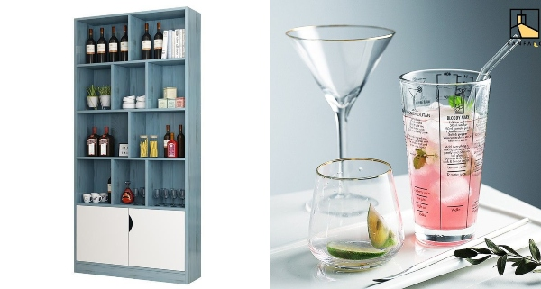 bar counter design bookshelf bar