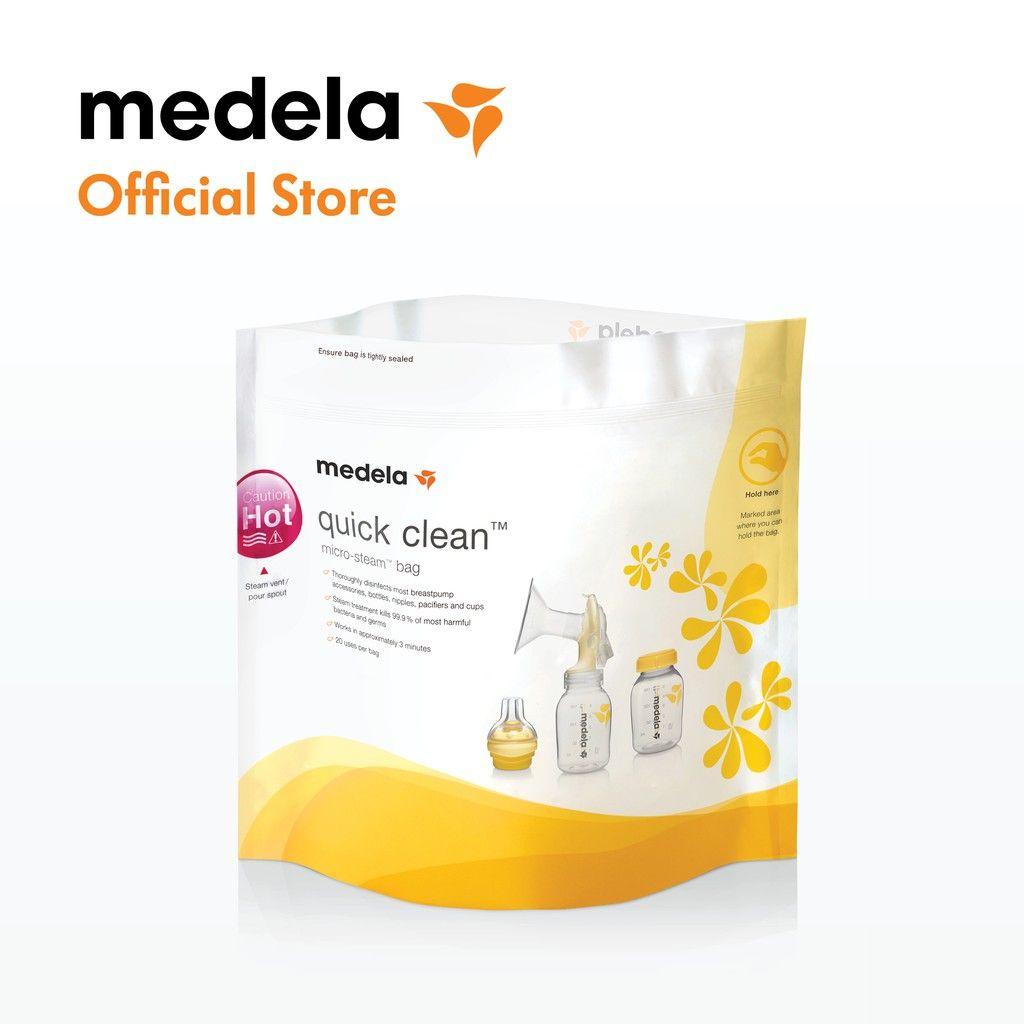 medela quick clean microwave storage bag bottle steriliser