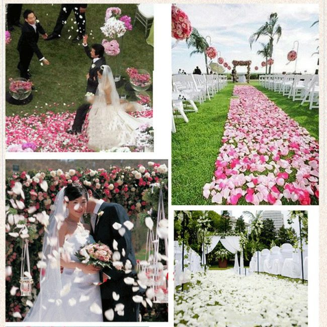 wedding rose petals silk flower