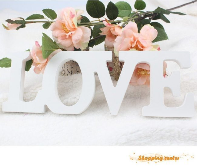 wedding reception table decorations love sign