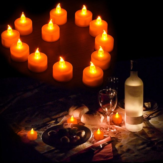 wedding reception table decorations tealight electronic