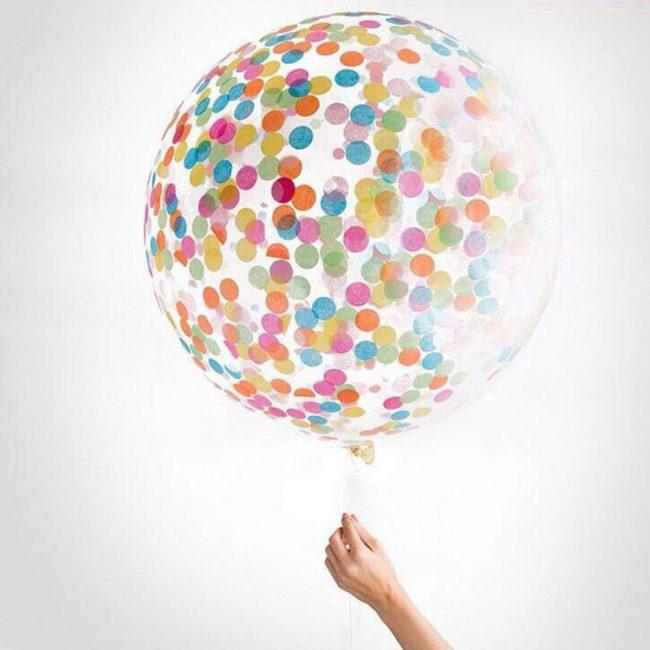 wedding party decor large confetti balloon colourful