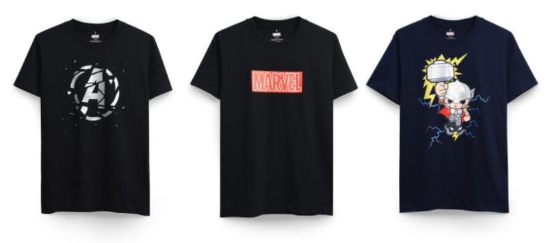 t shirt marvel mechandise in singapore