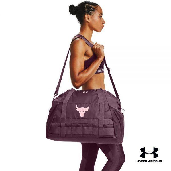 gym bag women under armour project rock gym bag purple sling