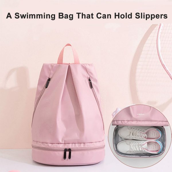 ladies sports bag wet and dry separate compartment backpack with shoe bag