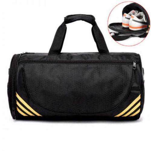 gym bag women black cylindrical sports duffel