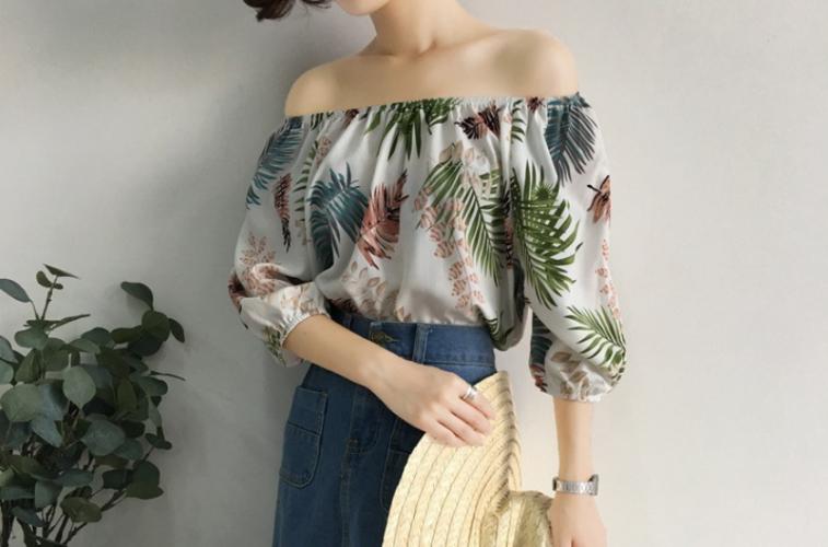 Women's Blouse Loose 3/4 Sleeve Hawaiian Top Short Sleeve Blouses