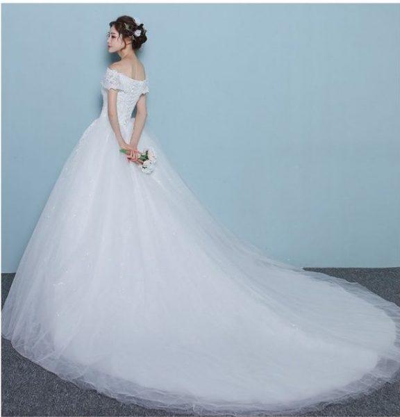 wedding dresses online sequined off shoulder ball gown