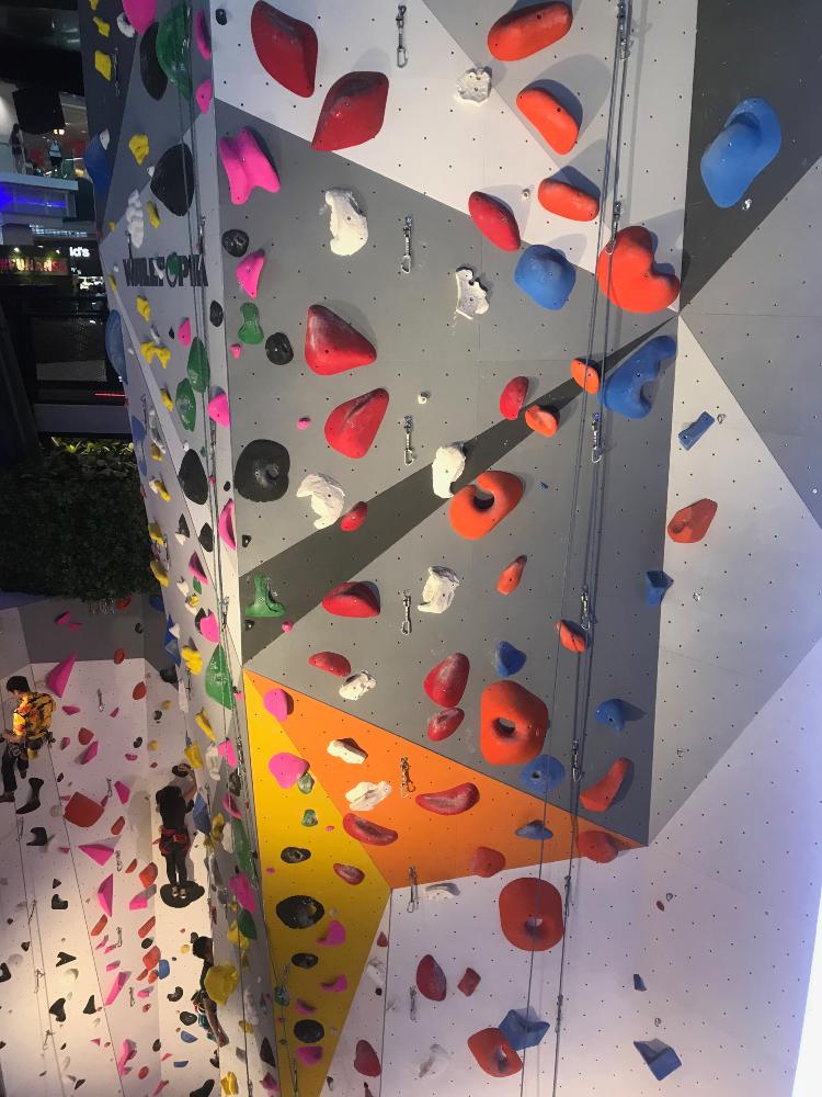 climbing wall new funan mall