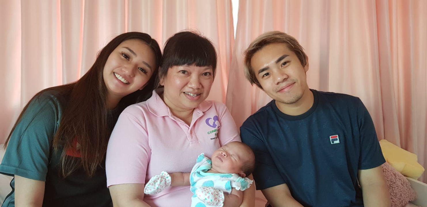 confinement angels singapore celebrity couple