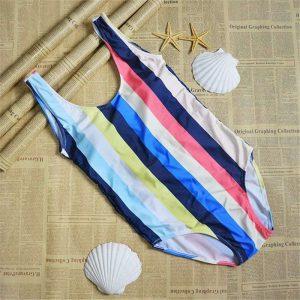 bright-striped-colourful-monokini plus sized swimwear singapore