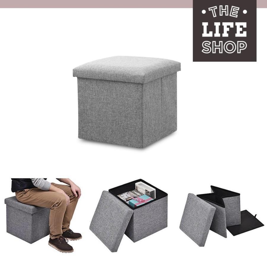 Foldable Fabric Storage Stool/Ottomans