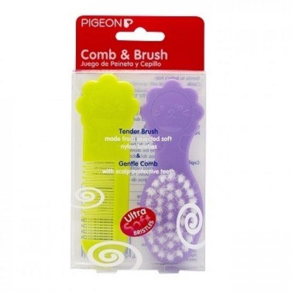 newborn checklist pigeon comb and brush set