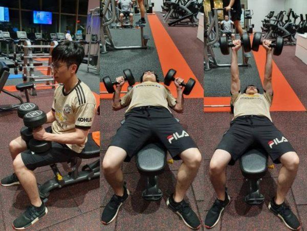 dumbbell press gym for beginners