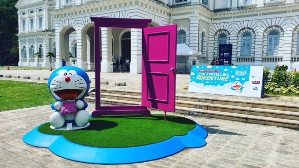 2020 december school holidays free activities for kids doraemon's time travelling exhibition anywhere door national museum