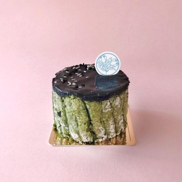 best matcha cake singapore flor patisserie black sesame emerald black