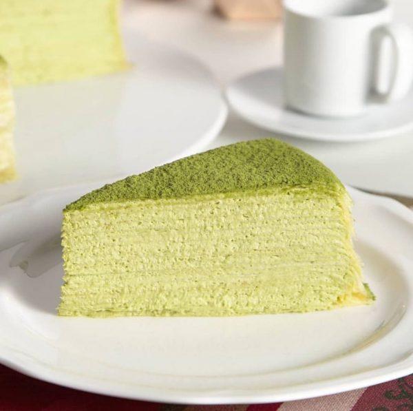 best matcha cake singapore lady m green tea mille crepe
