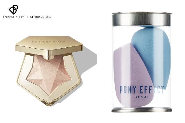 highlighter and beauty blender secret santa gift ideas