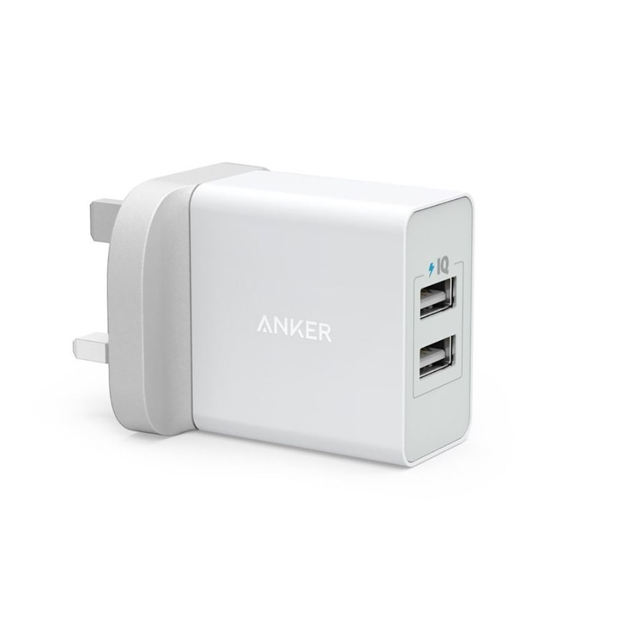 Anker 24W 2-Port USB Cable Wall Charger