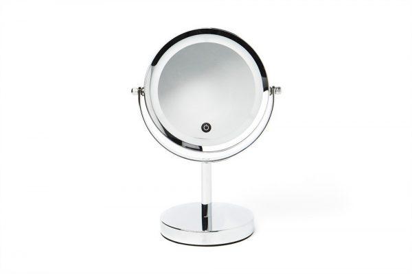 metal round led table mirror vanity