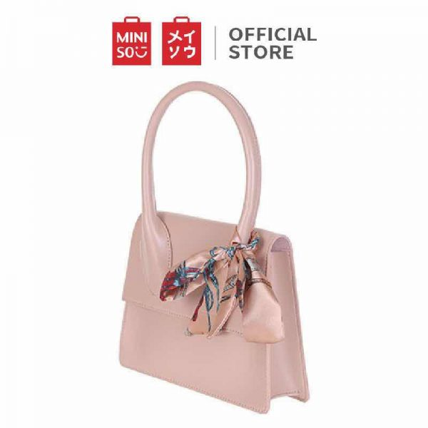 2020 budget christmas gift idea singapore miniso fairy shoulder bag scarf pink