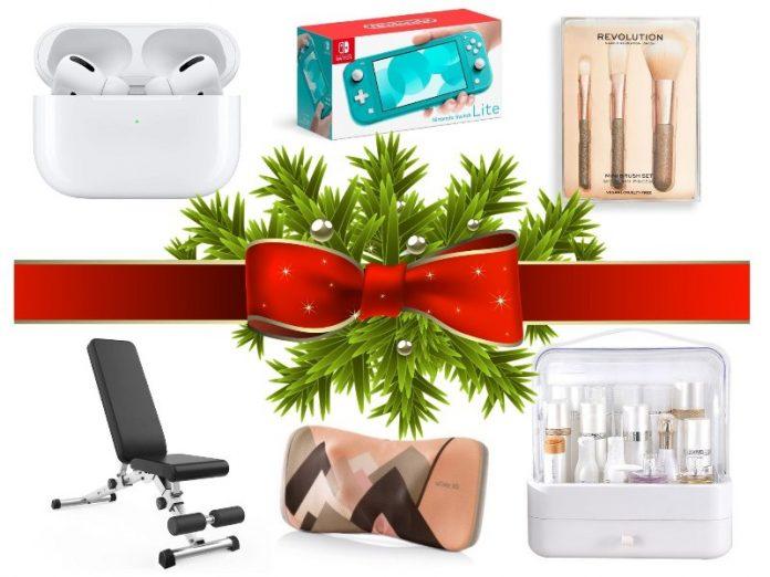 budget christmas gift ideal 2020 singapore airpods nintendo switch lite makeup brush dumbbell stool osim massager makeup organiser