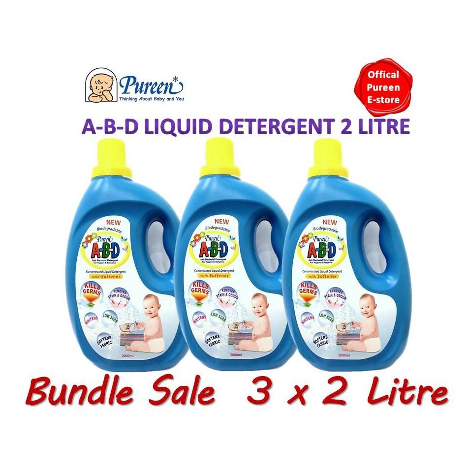 Pureen ABD Liquid Detergent 2litres Bundle Sale