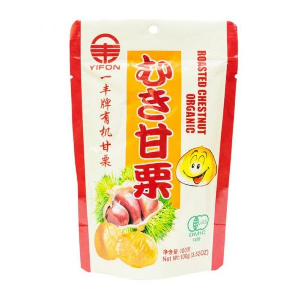 healthy snack singapore low calories yifon roasted chestnut organic