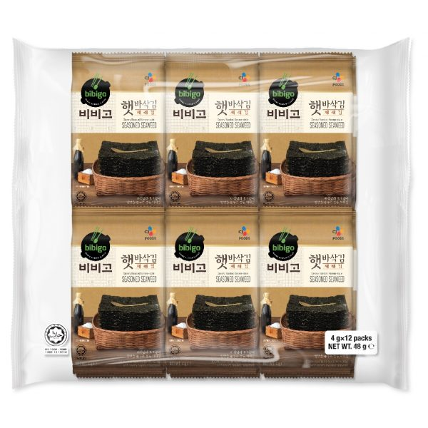 healthy snack singapore low calories cj bibigo savory roasted korean seasoned seaweed