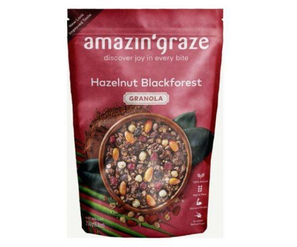 healthy snack singapore amazin' graze hazelnut blackforest granola