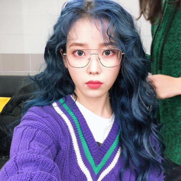 2021 hair trend best hair colour for asian smoky blue iu kpop