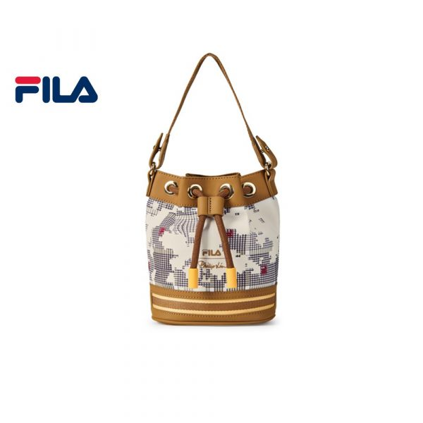 FILA products 3.1 Phillip Lim Women's Logo Bucket Bag brown designer pu leather