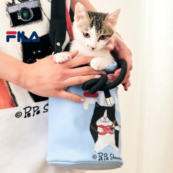 FILA products PePe Shimada Women's Tuxedo Cat Print Crossbody Bag