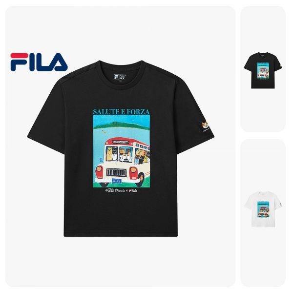 FILA products PePe Shimada Unisex Cat Print Cotton T-shirt