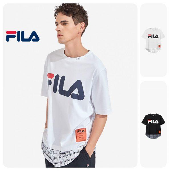 FILA products × Maison MIHARA YASUHIRO FILA Men's Logo Checked Cotton T-shirt